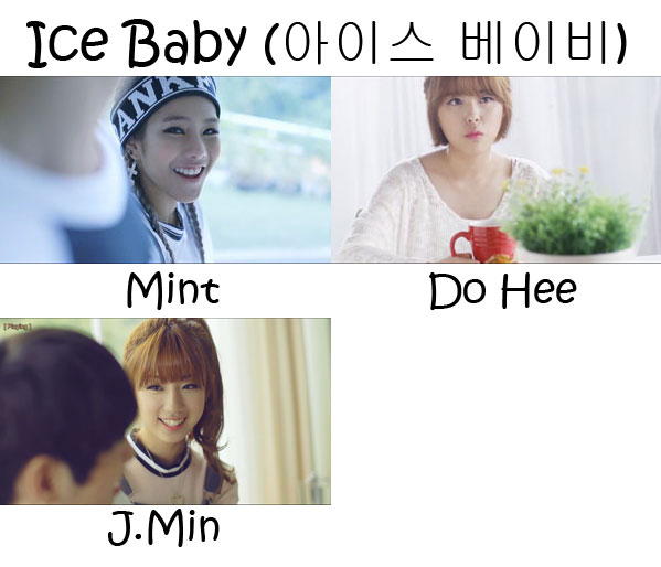 "The members of Tiny-G in the ""Ice Baby"" MV"