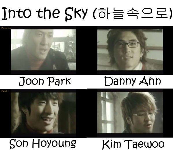 "The members of g.o.d in the ""Into The Sky"" MV"