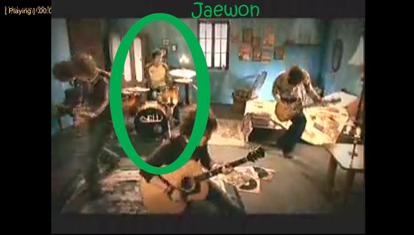 "Jaewon from Nell in the ""Cat"" MV"