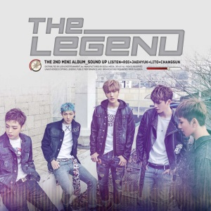 "Album art for Legend's album ""Sound Up"""