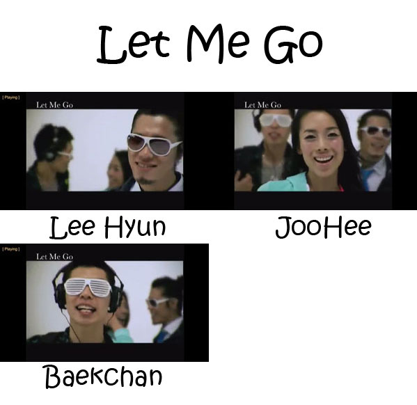 "The members of 8eight in the ""Let Me Go"" MV"