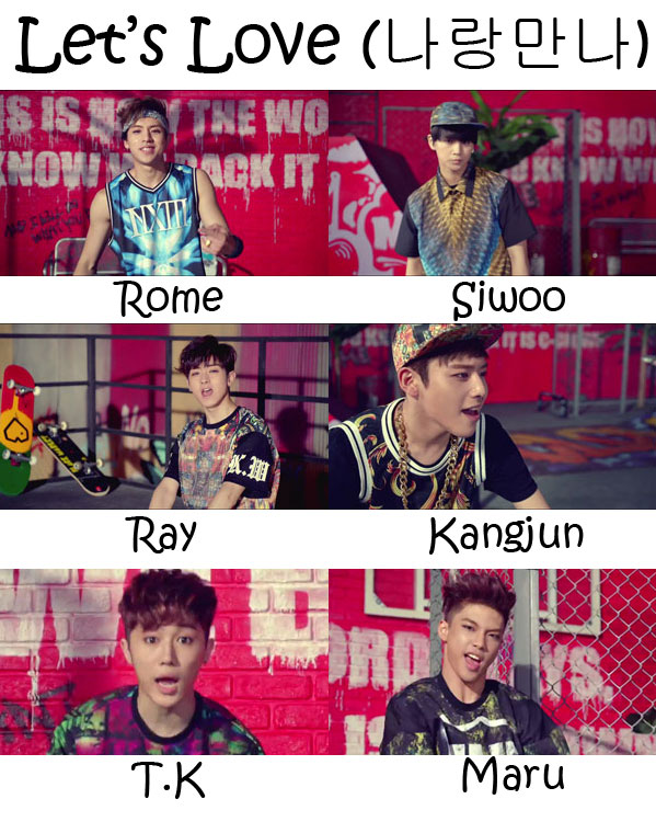 "The members of C-Clown in the ""Let's Love"" MV"