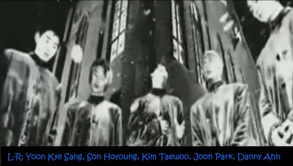 "The members of g.o.d in a group shot from the ""Love AndThe members of g.o.d in a group shot from the ""Love And Memory"" MV Memory"" MV"