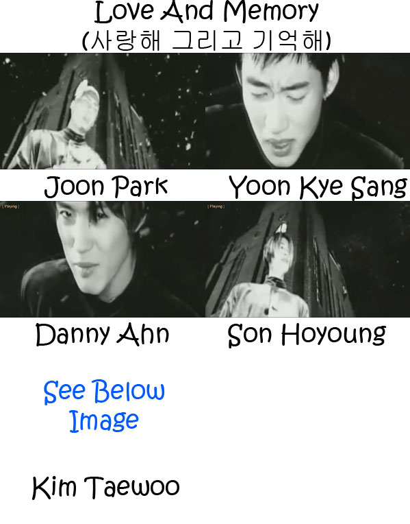 "The members of g.o.d in the ""Love And Memory"" MV"