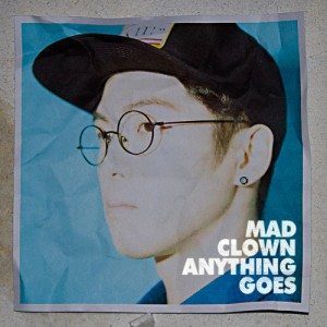 "Album art for Mad Clown's album ""Anything Goes"""