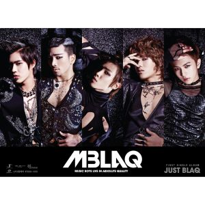"Album art for MBLAQ's album ""Just Blaq"""