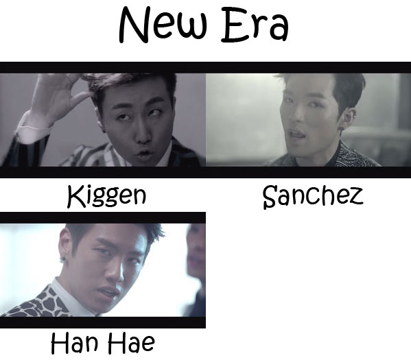 "The members of PHANTOM in the ""New Era"" MV"