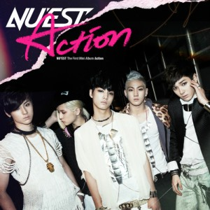 "Album art for NU'EST's album ""Action"""