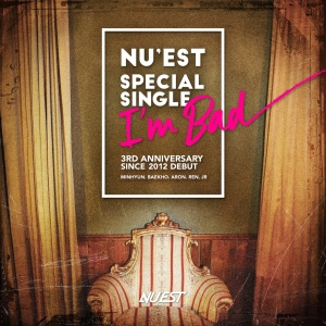"Album art for NU'EST's album ""I'm Bad"""