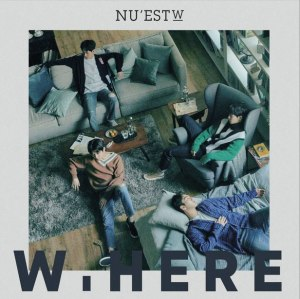 "Album art for NU'EST W's album ""W,Here"""