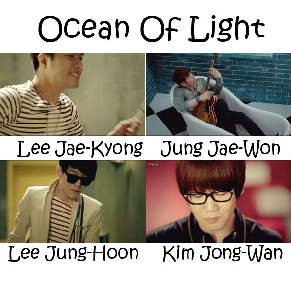 "The members of Nell in the ""Ocean Of Light"""