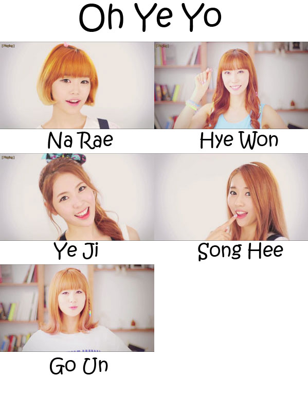 "The members of Flashe in the ""Oh Ye Yo"" MV"