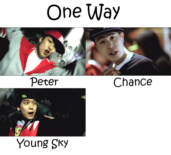 "The members of One Way in the ""One Way"" MV"