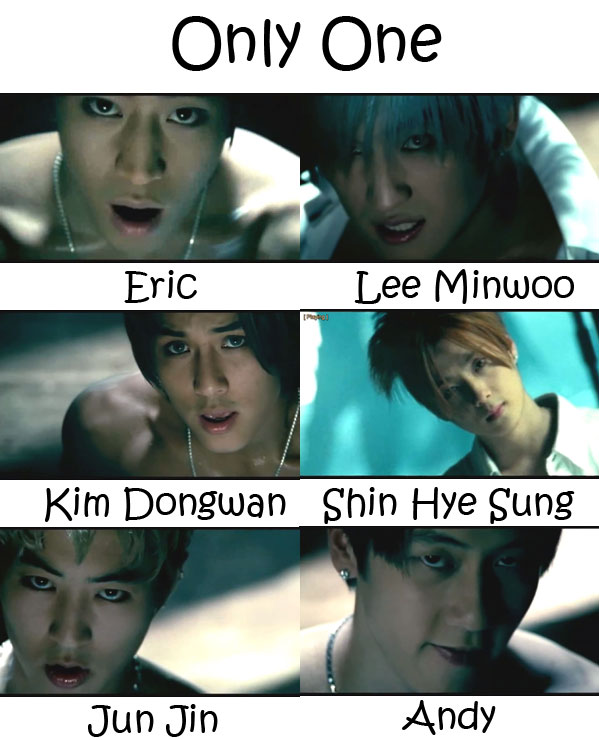 "The members of Shinhwa in the ""Only One"" MV"