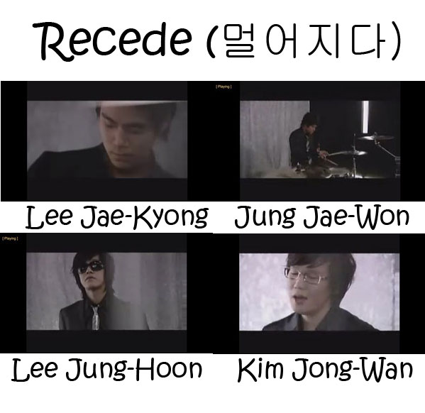 "The members of Nell in the ""Recede"" MV"