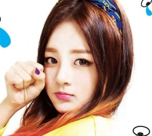 "Smile.G's Jieun ""DoBiDoBop"" promotional picture."