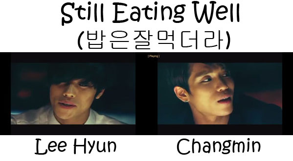 """The members of HOMME in the """"Still Eating Well"""" MV"""