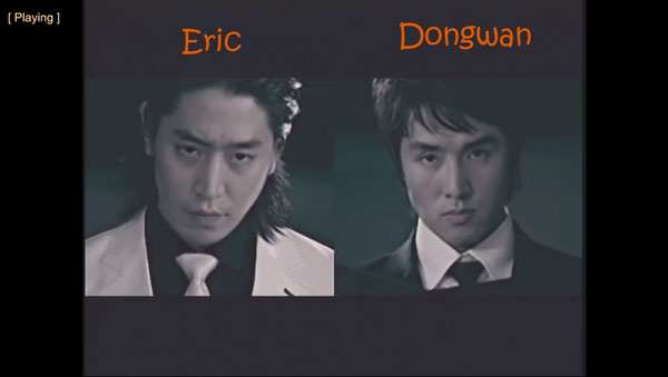 "Eric and Dongwan from Shinhwa in the ""Throw My Fist"" MV"