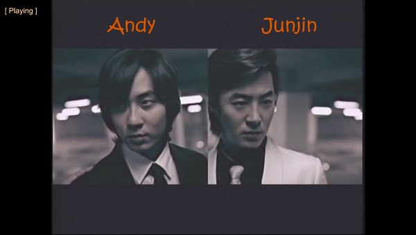 "Andy and Junjin from Shinhwa in the ""Throw My Fist"" MV"