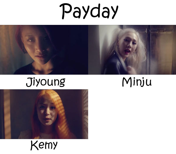 "The members of A.KOR's unit Top Of KOREA in the ""PAYDAY"""