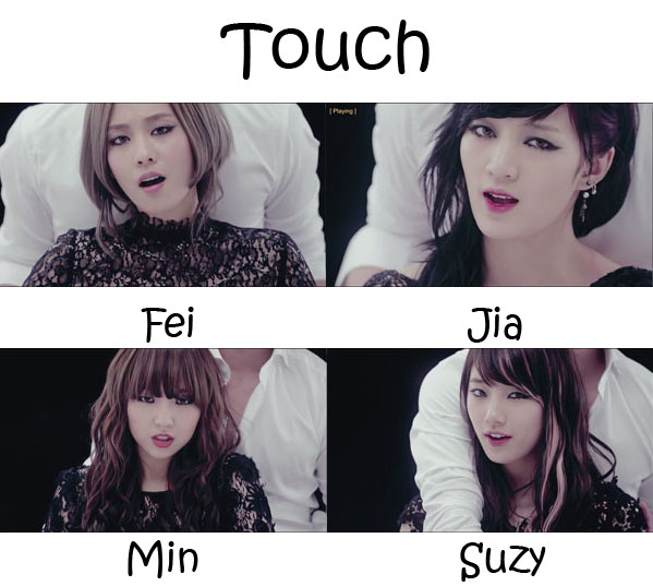 "The members of Miss A in the ""Touch"" MV"