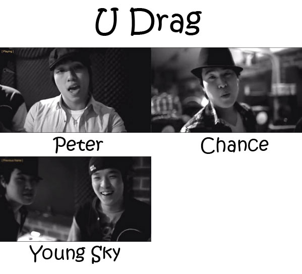 "The members of One Way in the ""U Drag"" MV"
