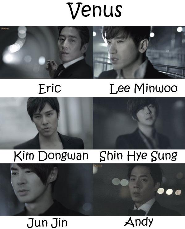 "The members of Shihwa in the ""Venus"" MV"
