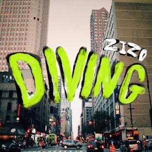 """Album art for Zizo's album """"Diving"""""""