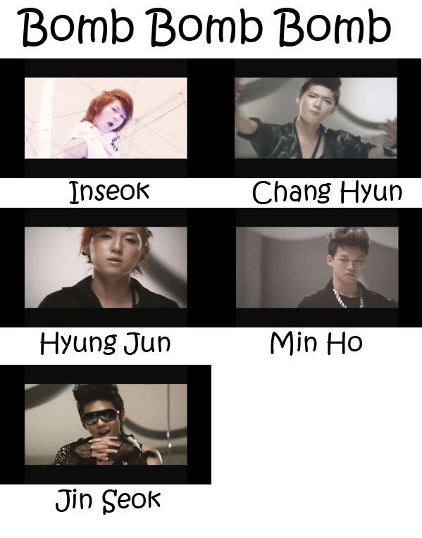 "The members of SHU-I in the ""Bomb Bomb Bomb"" MV"