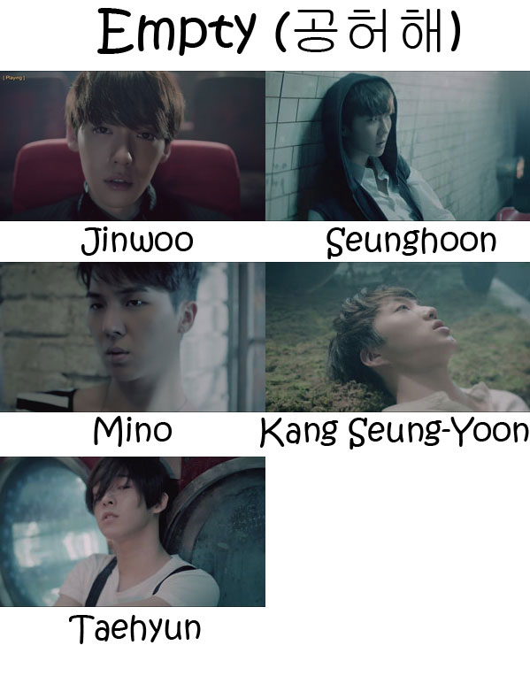 "The members of Winner in the ""Empty"" MV"