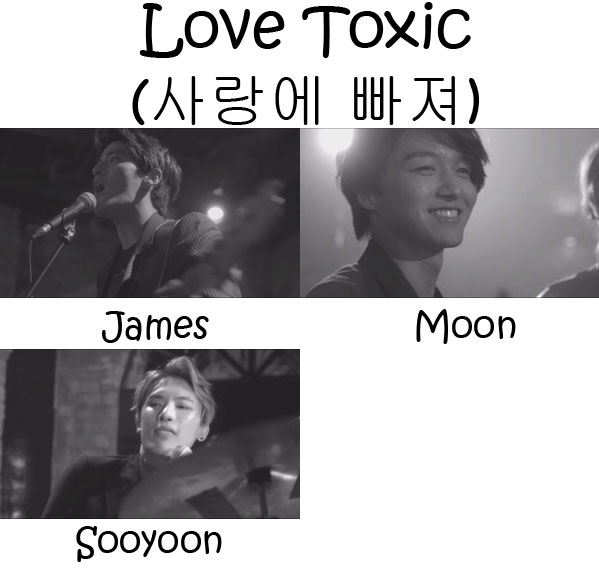 "The members of Royal Pirates in the ""Love Toxic"" MV"