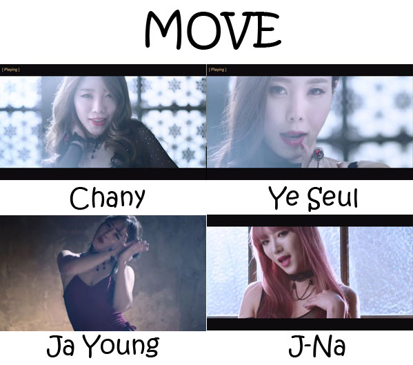 "The members of 4L in the ""MOVE"" MV"