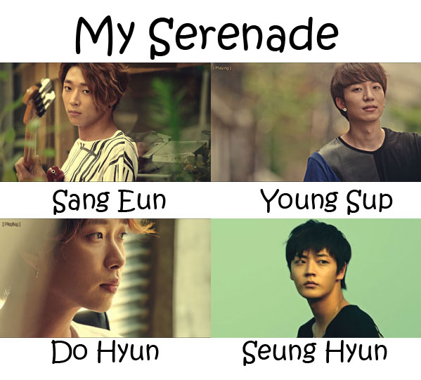 "The members of JACE in the ""My Serenade"" MV"