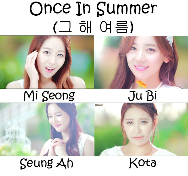 "The members of Sunny Hill in the ""Once In Summer"""