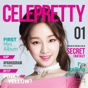 "Album art for Park Boram's album ""Celepretty"""