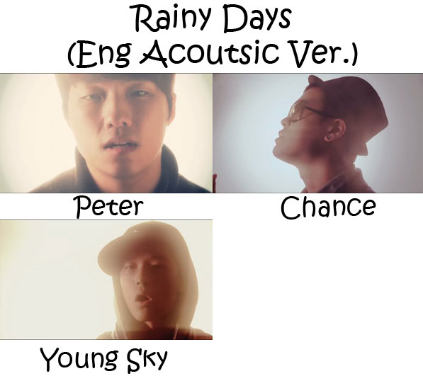 "The members of One Way in the ""Rainy Days (Eng Acoustic Ver."" MV"