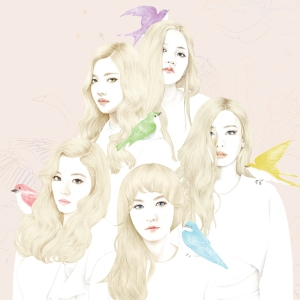 "Album art for Red Velvet's album ""Ice Cream Cake"""