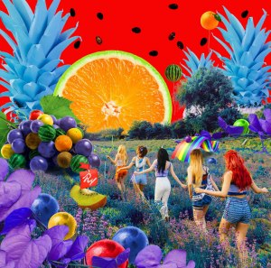 "Album art for Red Velvet's album ""The Red Summer"""