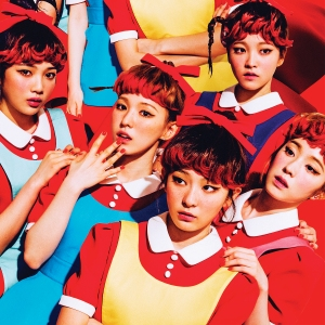 "Album art for Red Velvet's album ""The Red"""