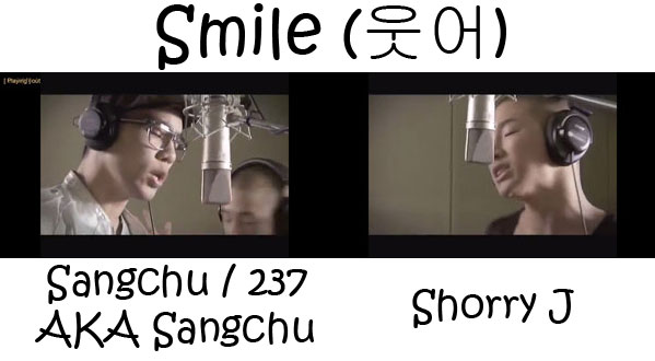 "The members of Mighty Mouth in the ""Smile"" MV"