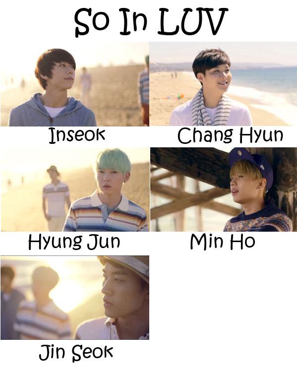 """The members of SHU-I in the """"So In LUV"""" MV"""