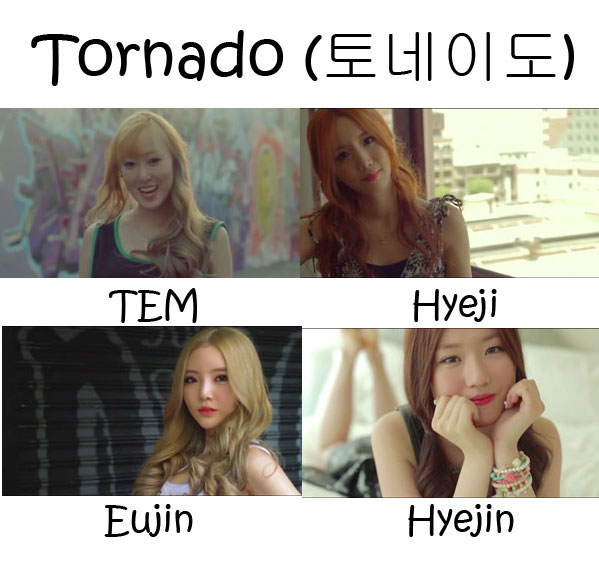 "The members of 4Ten in the ""Tornado"" MV"