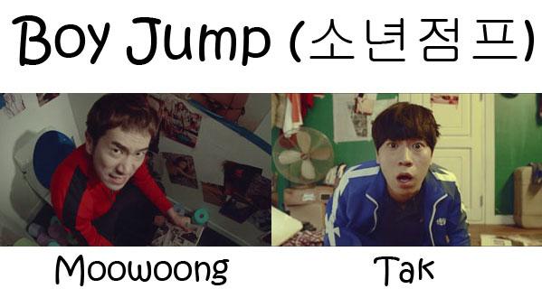 "The members of BaeChiGi in the ""Boy Jump"" MV"