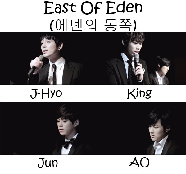 "The members of LC9 in the ""East Of Eden"" MV"