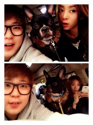 G.Na with her manager and Toki