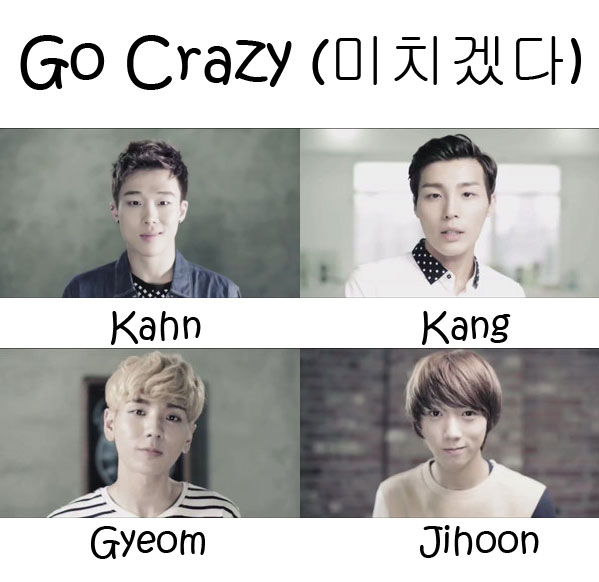 "The members of ZPZG in the ""Go Crazy"" MV"
