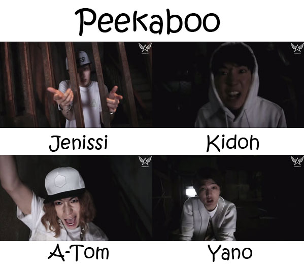 "The rap line of Topp Dogg in the ""Peekaboo"" MV"