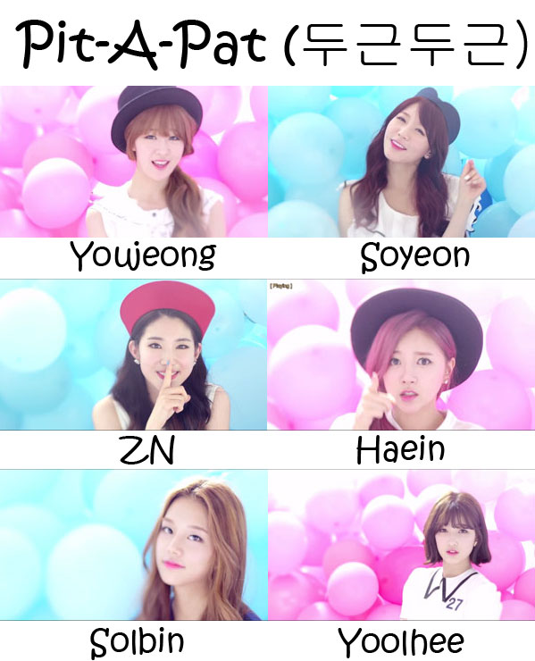 """The members of LABOUM in the """"Pit-A-Pat"""" MV"""