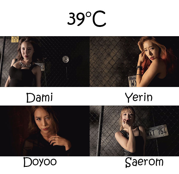 """The members of Switch in the """"39°C"""" MV"""