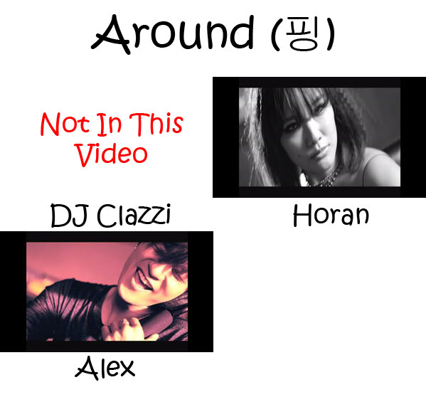"The members of Clazziquai Project in the ""Around"" MV"